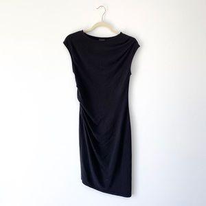 Topshop Asymmetrical Black Dress